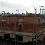 Bild 12  Erdgeschoßmauerwerk mit Mineralwolle gefülltem Ziegelmauerwerk