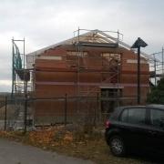 Bild 13 Rohbau mit Dachstuhl