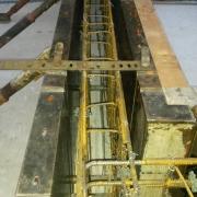 Bild 4 Schalungs- und Bewehrungsarbeiten für flüssigkeitsdichtes Becken