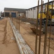 Bild 6 Fundamentarbeiten für Neubau Halle
