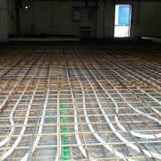 Bild 7 Neue Bodenplatte mit Industriebodenheizung