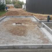 Bild 13 Einfassung für Gülleabfüllplatte Biogasanlage