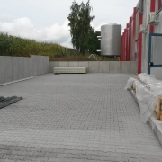 Bild 7  Zufahrtserweiterung mit Stützwinkelversetzung und Pflasterarbeiten