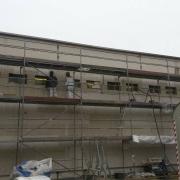 Bild 8 Fassadendämmung mit Mineralwolle Industriehalle