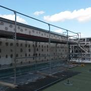 Bild 9 Fassadendämmung mit Mineralwolle Industriehalle