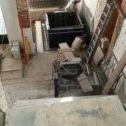 Bild 10 Einbau Fahrstuhlschacht