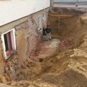 Bild 2 Kelleraußentreppe nach Abriß