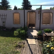 Bild 6 Gartenlaube nach Brandschaden